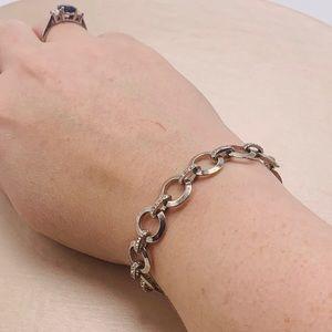 Fossil Women Stainless Steel Charm Bracelet